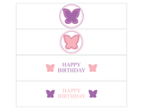 Printable butterfly birthday party water bottle labels - Celebrating Together