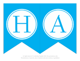 Letters H and A for a printable happy birthday banner - Celebrating Together