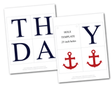 printable pages for nautical happy birthday banner - Celebrating Together