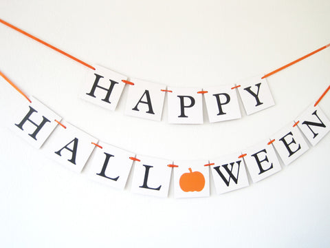 happy halloween banner - halloween party decoration - Celebrating Together