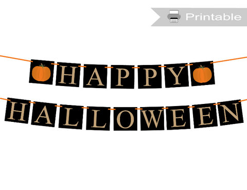 DIY happy halloween banner - Celebrating Together