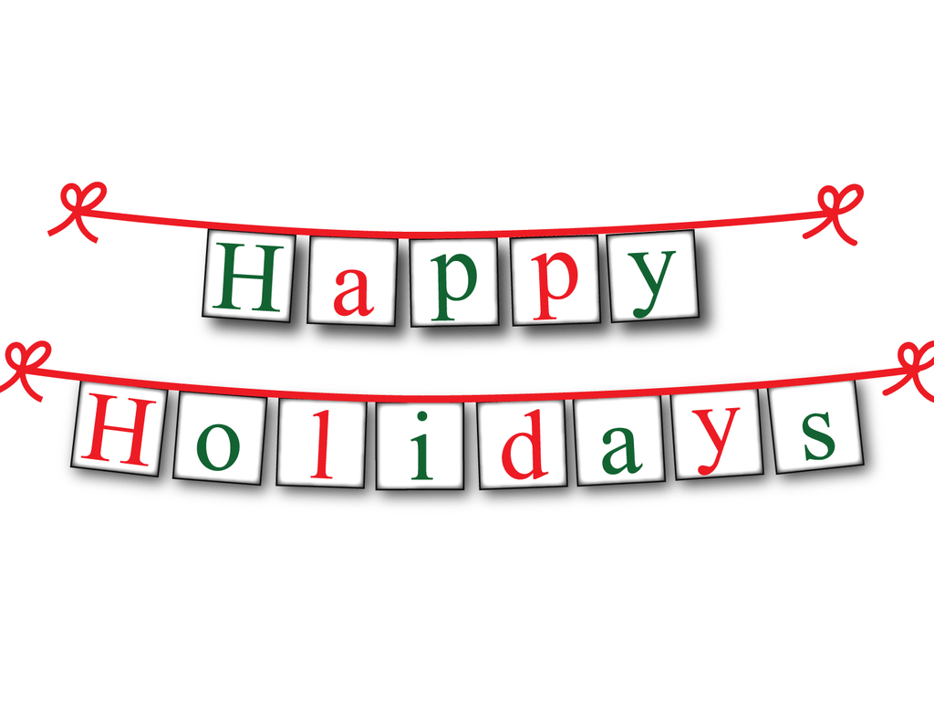 graphic about Happy Holidays Banner Printable titled Printable Joyful Holiday seasons Banner