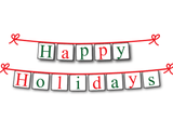 Happy Holidays printable banner - Christmas Decoration - Celebrating Together