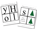 Printable pages for Happy Holiday banner - DIY Holiday decorations - Celebrating Together