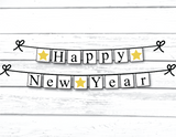 Happy New Year Printable Banner - Celebrating Together