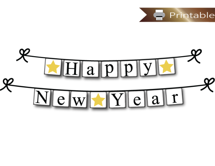 picture relating to Happy New Year Printable named Content Contemporary Calendar year Printable Banner