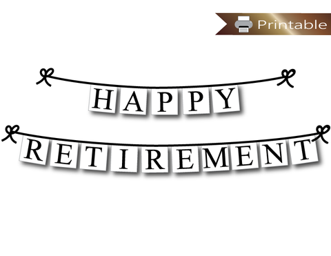 happy retirement banner printable - retirement party decoration - Celebrating Together