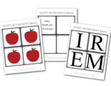 diy teachers retirement banner with printable apples - Celebrating Together