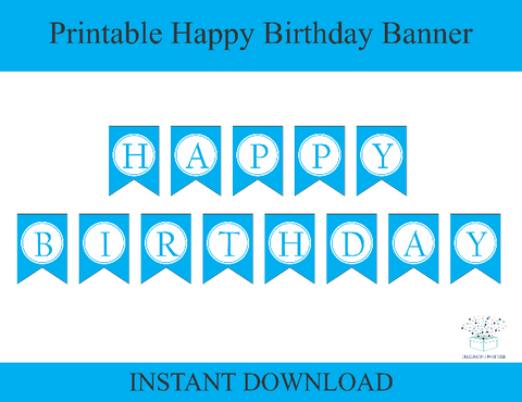 Printable happy birthday banner - Celebrating Together