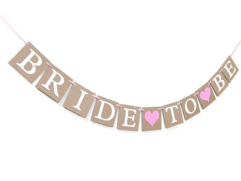 rustic bride to be banner - Celebrating Together