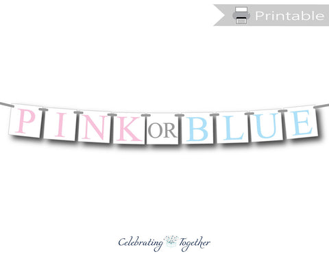pink or blue printable banner - Celebrating Together