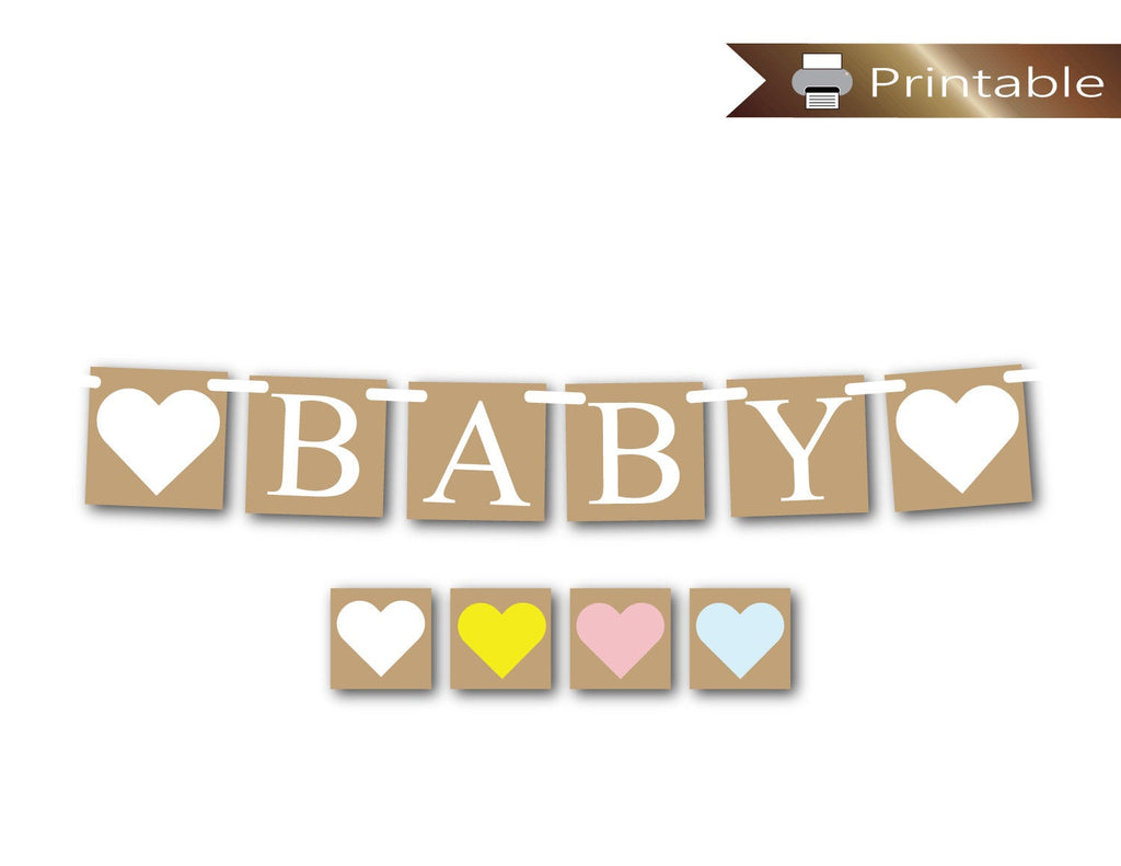 printable rustic baby banner - Celebrating Together