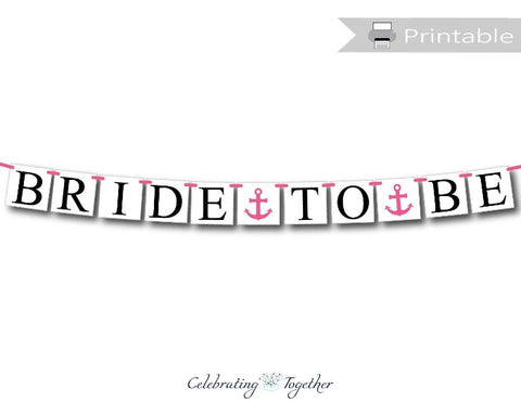 printable bride to be banner - Celebrating Together