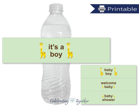 printable boys water bottle labels - Celebrating Together