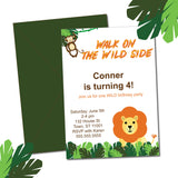 printable lion birthday invitations - Celebrating Together