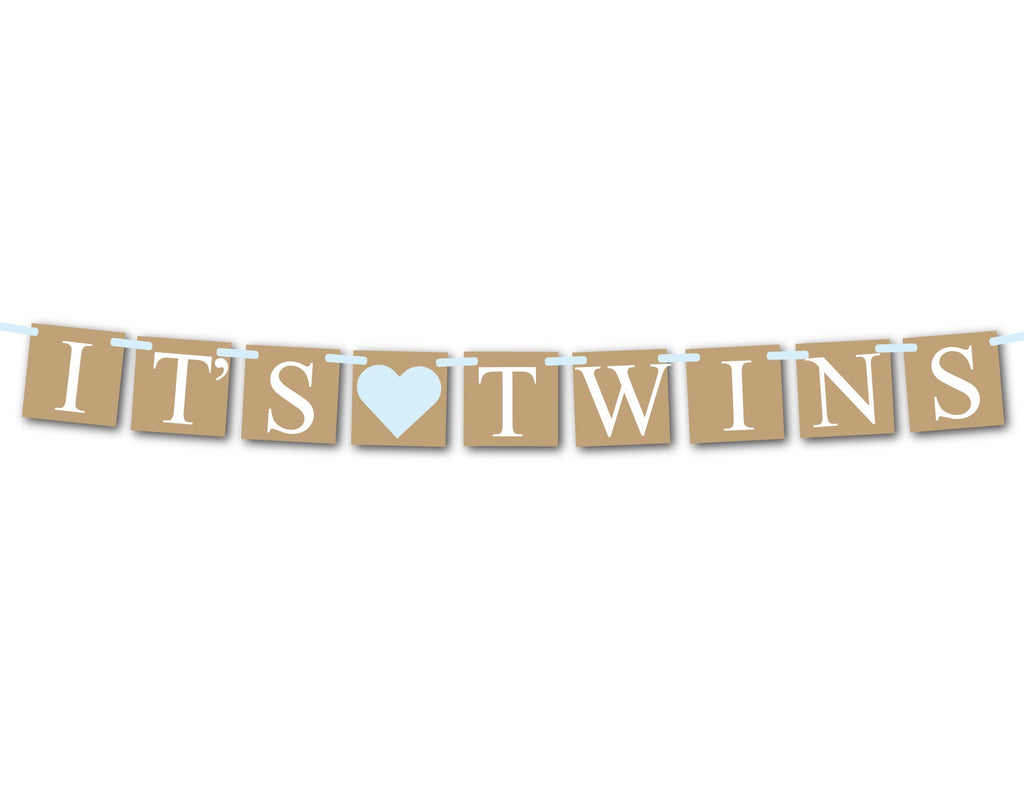 rustic boys it's twins banner - Celebrating Together