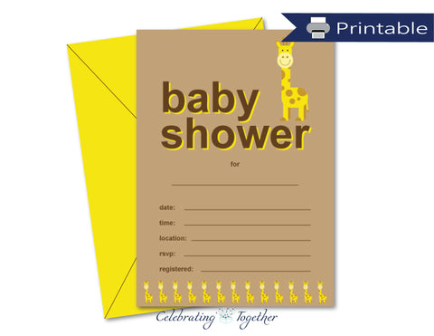 printable baby shower invitations - Celebrating Together