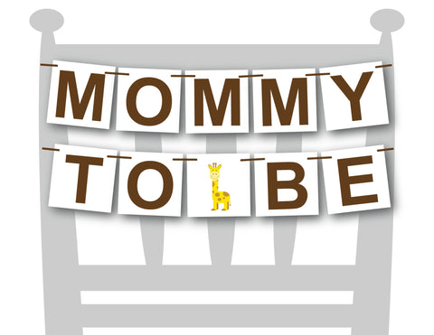zoo mommy to be chair banner - Celebrating Together