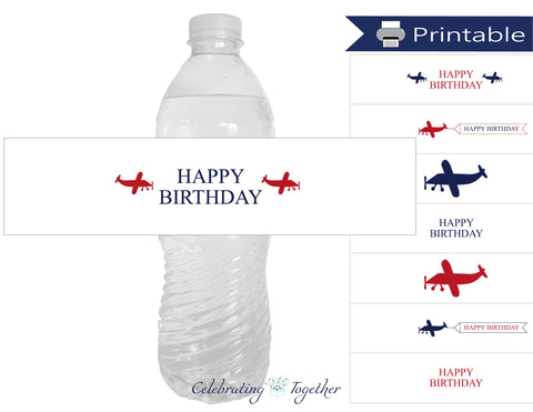 printable happy birthday water bottle labels - Celebrating Together
