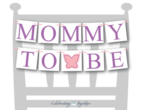 butterfly mommy to be chair sign - Celebrating Together