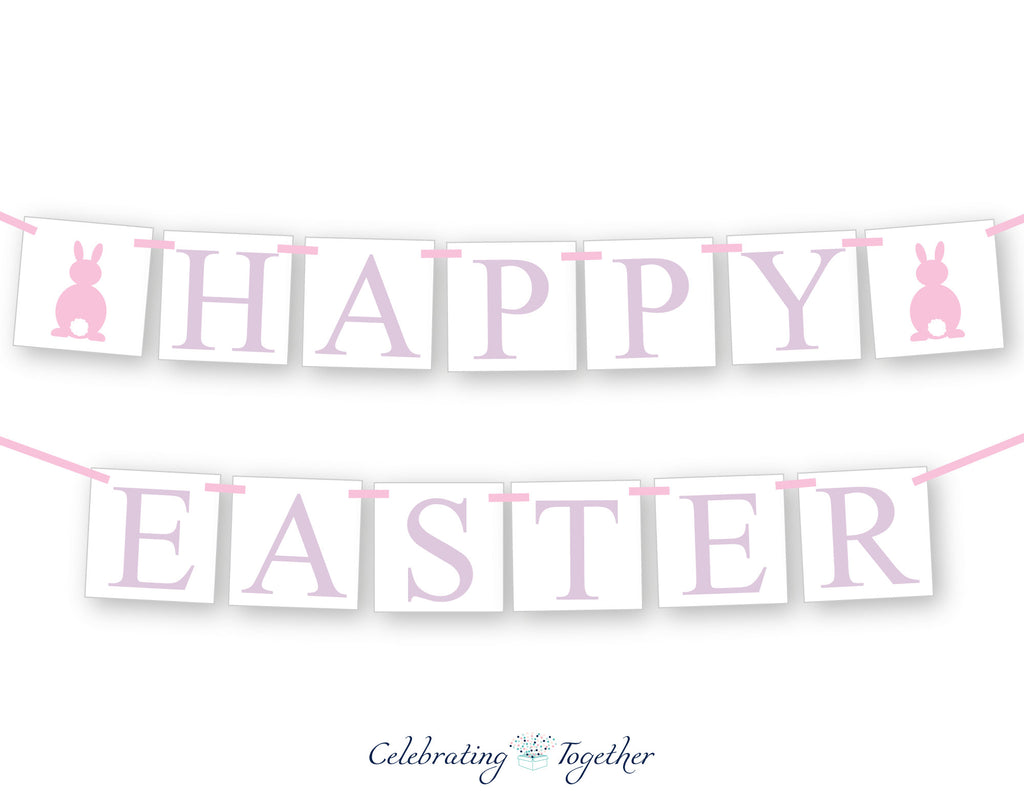 pink and purple pastel happy easter banner - Celebrating Together