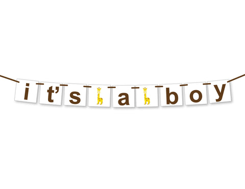 zoo it's a boy banner - Celebrating Together