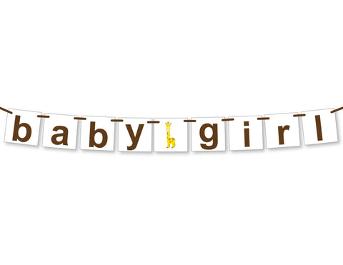 giraffe baby girl banner - Celebrating Together