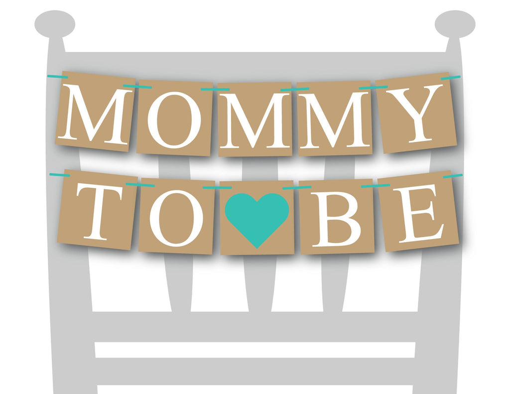 aqua mommy to be chair banner - Celebrating Together