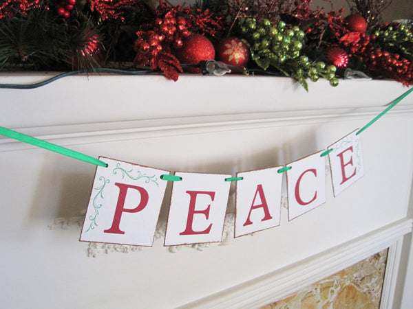 Peace Christmas Banner - Celebrating Together