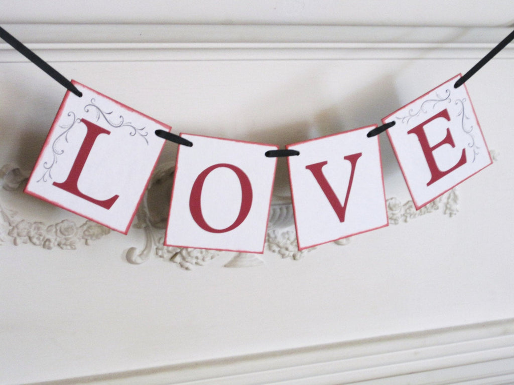 Love Banner, wedding banner, wedding photo prop, love sign, wedding announcement banner, Valentine's Day banner, bridal shower banner