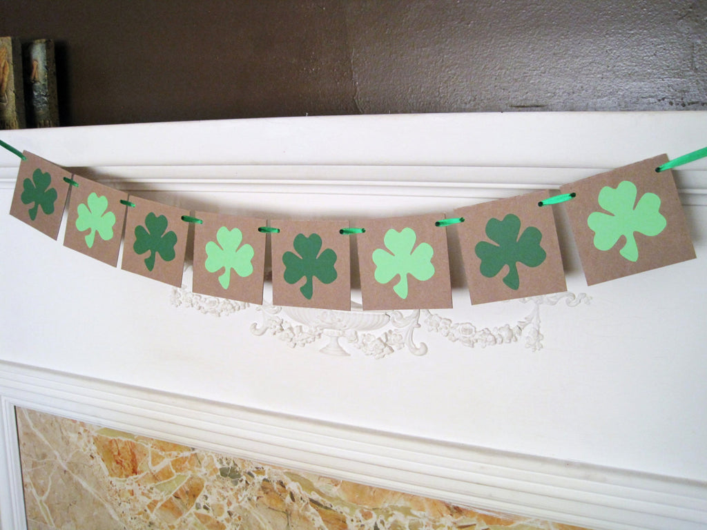 St. Patrick's Day Shamrock Banner - Celebrating Together
