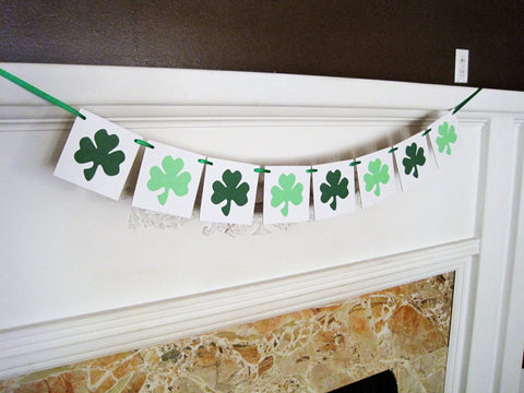 St Patrick's Day Shamrock Banner - Celebrating Together