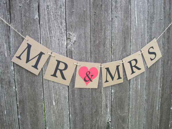Rustic Mr and Mrs Banner - Celebrating Together