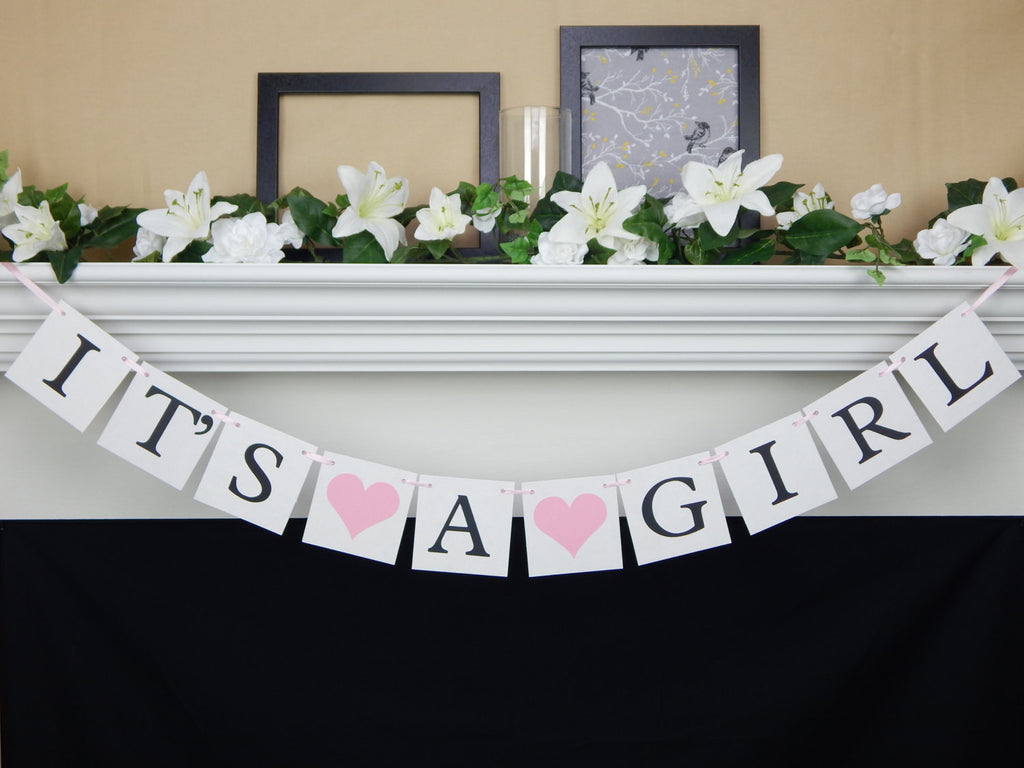 It's A Girl Banner - Celebrating Together