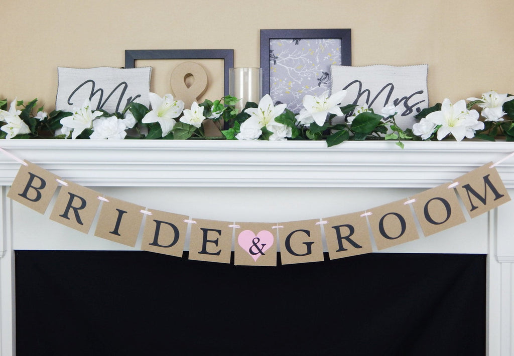 rustic bride and groom banner - Celebrating Together