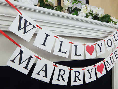 Will You Marry Me Banner - Celebrating Together