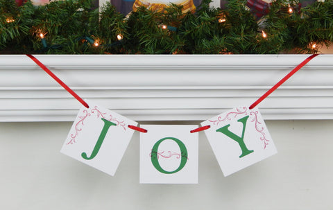 Joy Banner - Christmas Decoration - Celebrating Together