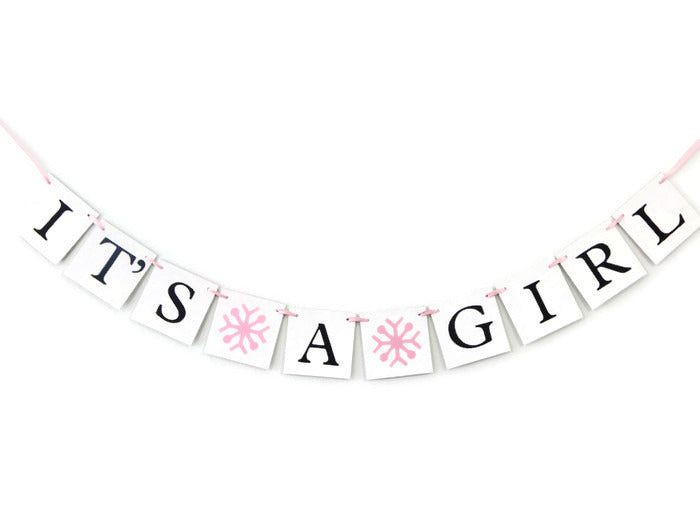 snowflake its a girl banner - Celebrating Together
