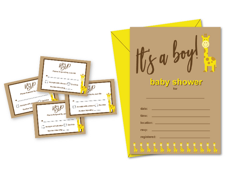 printable baby shower invitation and rsvp cards - Celebrating Together