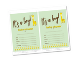 DIY boys baby shower invites - Celebrating Together