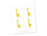 printable giraffes for it's a girl sign - Celebrating Together