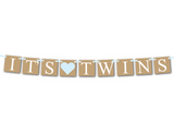 rustic boy twins baby shower banner - Celebrating Together