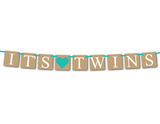 rustic printable its twins banner - Celebrating Together