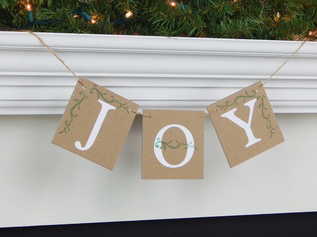 Joy Banner -  Joy to the World Holiday Decor - Celebrating Together