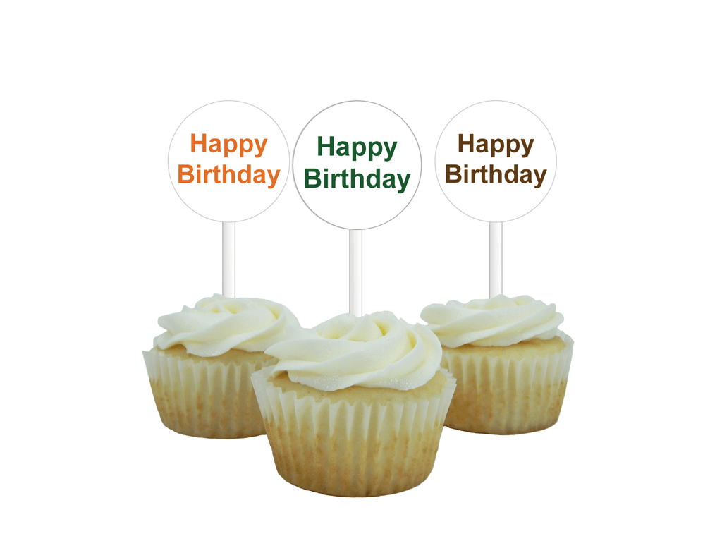 graphic relating to Happy Birthday Cake Topper Printable named Printable Jungle Pleased Birthday Cupcake Toppers