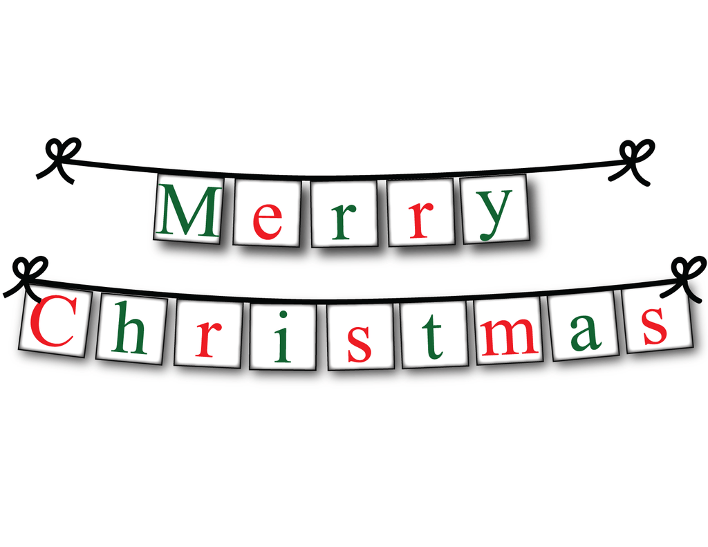 graphic about Printable Christmas Decorations identified as Printable Merry Xmas Banner