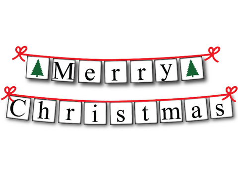 photograph regarding Merry Christmas Banner Printable identify Xmas Tree Printable Merry Xmas Banner