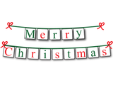 DIY Merry Christmas banner - printable holiday decorations - Celebrating Together