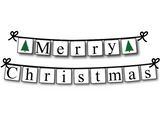 Printable merry christmas banner - Celebrating Together