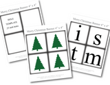 printable christmas trees for diy merry christmas banner - Celebrating Together